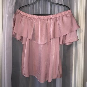 Miami light pink off the shoulder top